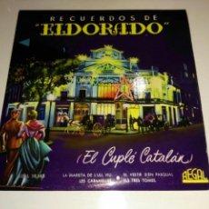 Discos de vinilo: LINDA VERA- EP RECUERDOS DE EL DORADO (EL CUPLE CATALAN)- REGAL 1958 ESPAÑA 6. Lote 109546498