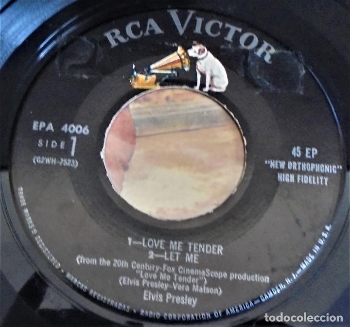 Discos de vinilo: Elvis Presley - love me tender - EPA-4006 - 1ªedición USA 1956 - Foto 6 - 109546511
