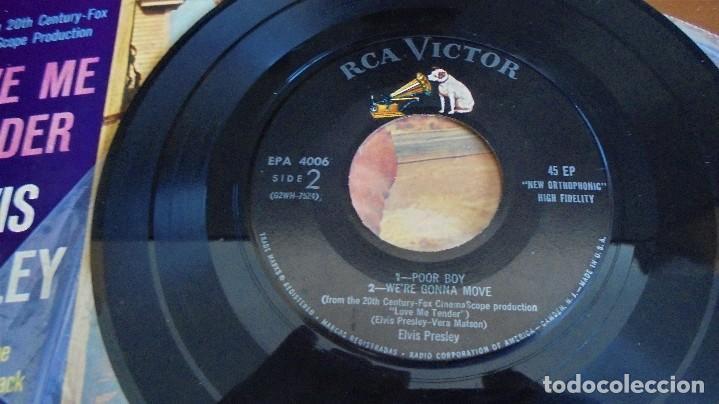 Discos de vinilo: Elvis Presley - love me tender - EPA-4006 - 1ªedición USA 1956 - Foto 7 - 109546511