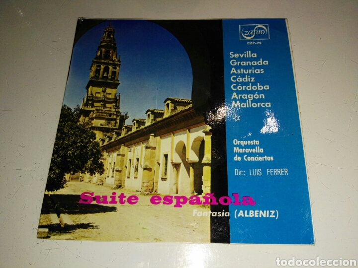 ORQUESTA MARAVELLA LUIS FERRER- SUITE ESPAÑOLA ALBENIZ- ZAFIRO 1966 ESPAÑA 6 (Música - Discos - Singles Vinilo - Orquestas)
