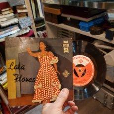 Discos de vinilo: LOLA FLORES UN MUNDO RARO ALGO DE ESPAÑA 1958 TELEFUNKEN. Lote 109550483