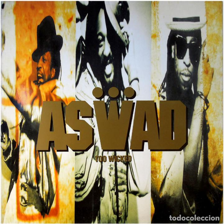 ASWAD – TOO WICKED - LP SPAIN 1990 - ISLAND RECORDS 211 048 (Música - Discos de Vinilo - Maxi Singles - Reggae - Ska)