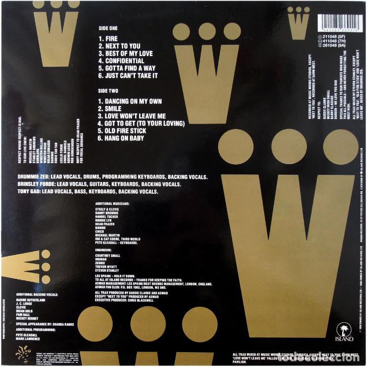 Discos de vinilo: Aswad – Too Wicked - Lp Spain 1990 - Island Records 211 048 - Foto 2 - 109566671