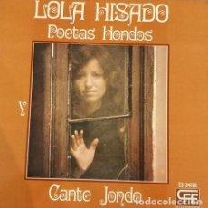 Discos de vinilo: LOLA HISADO - POETAS HONDOS CANTE JONDO - LP DE VINILO - NUEVO. Lote 109591539