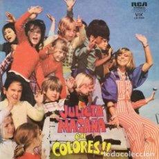 Discos de vinilo: JULIETA MAGAÑA - LA CHICA DE LA TELE ARGENTINA - DE COLORES LP EN VINILO AZUL EDICION ARGENTINA. Lote 109602047