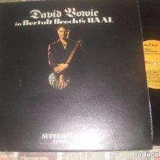 Discos de vinilo: DAVID BOWIE, IN BERTOLT BRECHT'S BAAL (RCA 1982) MAXI +ENCARTE OG ESPAÑA NUEVO. Lote 109613979