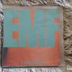 Discos de vinilo: SINGLE EMF.I BELIEVE. PARLOPHONE 1990. COMO NUEVO. Lote 109643039