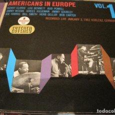 Discos de vinilo: LP-AMERICANS IN EUROPE VOL. 1 LIVE JANUARY 1963 HISPAVOX IMPULSE A 36 SPAIN 1966 JAZZ GATEFOLD. Lote 109748135