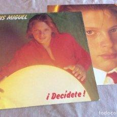 Discos de vinilo: LUIS MIGUEL. DECIDETE . EMI 1983 CONTIENE ENCARTE. Lote 109748523