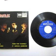 Discos de vinilo: THE BEATLES GIRL, NOWHERE MAN +2 DSOE16690 ODEON B. 18612 1966 PERFECTO ESTADO 1ª EDICION. Lote 109779027