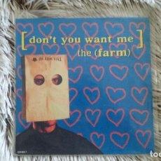 Discos de vinilo: SINGLE THE FARM - DON'T YOU WANT ME. SONY 1992. Lote 109837739