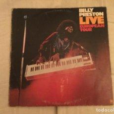 Discos de vinilo: DISCO VINILO BILLY PRESTON. LIVE EUROPEAN TOUR. Lote 109888443