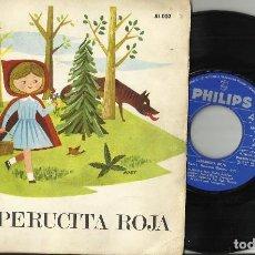 Discos de vinil: MARIA ELENA DOMENECH (NARRACION) DISCO LIBRO CAPERUCITA ROJA - 1966. Lote 109906747