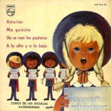 Discos de vinilo: COROS DE LAS ESCUELAS AVEMARIANAS - ASTURIAS / ME QUISISTE / YA SE VAN LOS PASTORES - EP 1963 . Lote 109998167