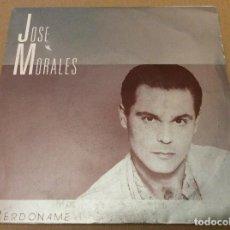 Discos de vinilo: JOSE MORALES-PERDONAME. EL DIA DESPUES DE LA NOCHE ANTERIOR. DIAL DISCOS 1990 PROMOCIONAL. Lote 109998283