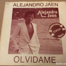 Discos de vinilo: ALEJANDRO JAEN. OLVIDAME. DISCULPAME. EDIGSA 1981. DISCO PROMOCIONAL.. Lote 109998395