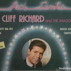 Discos de vinilo: CLIFF RICHARD Y THE SHADOWS - CANTA EN ESPAÑOL. Lote 110003167