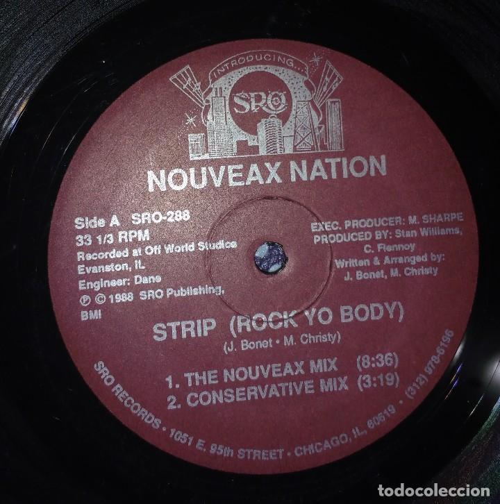 Discos de vinilo: Nouveax Nation – Strip (Rock Yo Body). EDICIÓN US - Foto 2 - 110008283