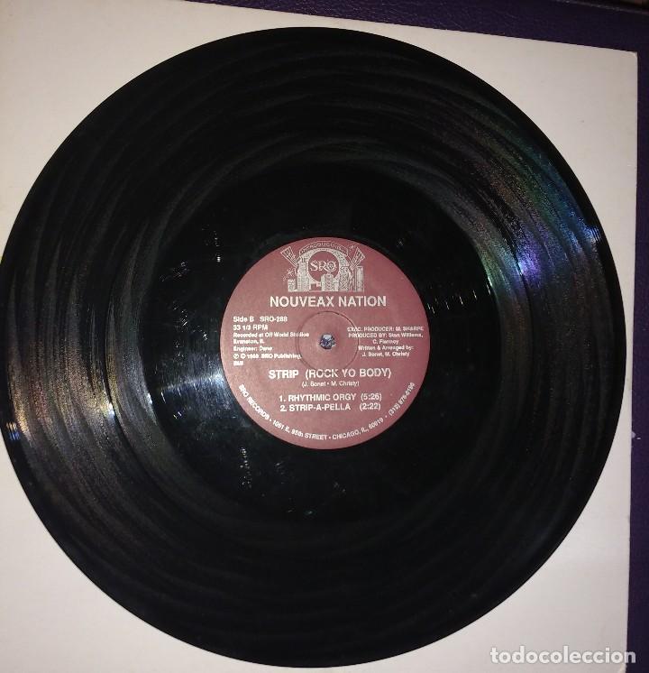 Discos de vinilo: Nouveax Nation – Strip (Rock Yo Body). EDICIÓN US - Foto 3 - 110008283