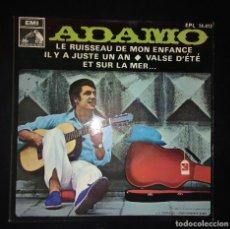 Discos de vinilo: ADAMO ''LE RUISSEAU DE MON ENFANC''. Lote 110008427