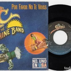Discos de vinilo: KC AND THE SUNSHINE BAND ESPAÑOL POR FAVOR NO TE VAYAS SINGLE SPAIN 1979. Lote 110017055