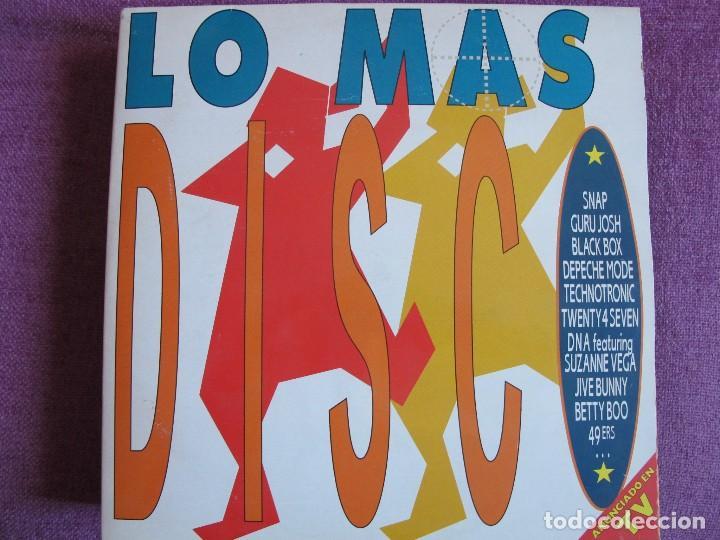 LP - LO MAS DISCO - VARIOS (DOBLE DISCO, SPAIN, ARIOLA 1990, VER FOTO ADJUNTA) (Música - Discos - LP Vinilo - Disco y Dance)