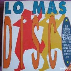 Discos de vinilo: LP - LO MAS DISCO - VARIOS (DOBLE DISCO, SPAIN, ARIOLA 1990, VER FOTO ADJUNTA). Lote 110021551