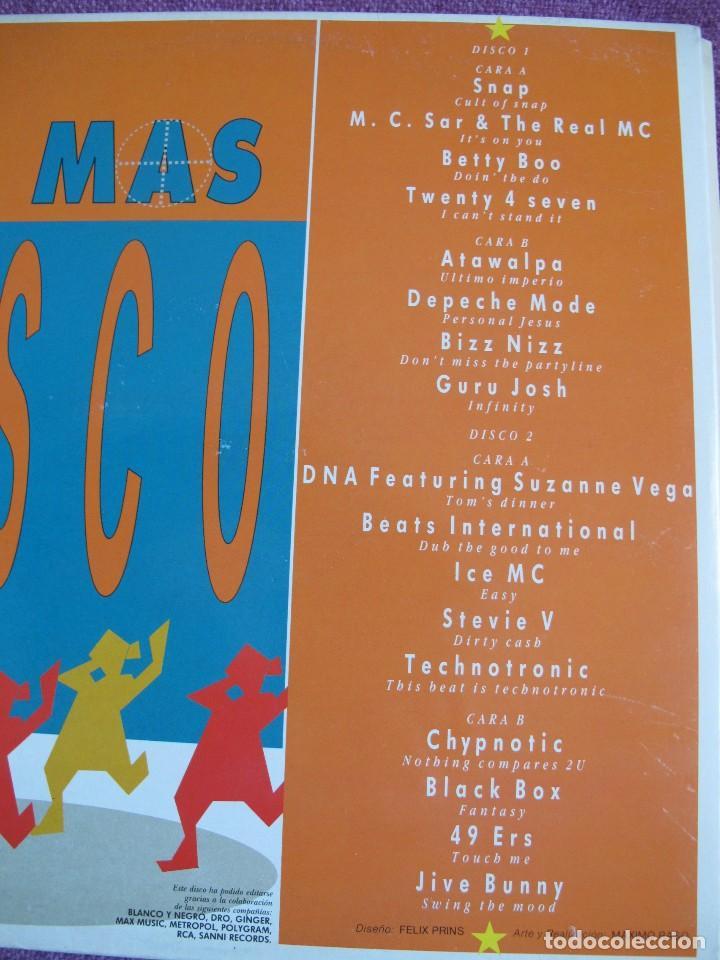 Discos de vinilo: LP - LO MAS DISCO - VARIOS (DOBLE DISCO, SPAIN, ARIOLA 1990, VER FOTO ADJUNTA) - Foto 2 - 110021551