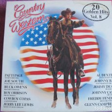 Discos de vinilo: LP - COUNTRY WESTERN VOL. 8 - VARIOS (GERMANY, COLORADO RECORDS SIN FECHA, VER FOTO ADJUNTA). Lote 110024027