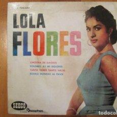 Discos de vinilo: DISCO VINILO LOLA FLORES LIMOSNA DE AMORES SEECO 45RPM 1961. Lote 110041859