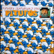 Discos de vinilo: EL PADRE ABRAHAM Y SUS PITUFOS - LP CON FUNDA INTERIOR CON JUEGO Y LETRAS . Lote 110042743