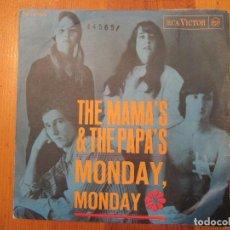 Discos de vinilo: DISCO THE MAMA'S & THE PAPA'S MONDAY MONDAY/ CALIFORNIA DREAMIN' VINILO RCA 1966. Lote 110044535