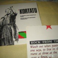Discos de vinilo: KORTATU - CON LETRAS , POSTER - EN BUEN ESTADO. Lote 110067439