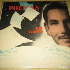 Discos de vinilo: JORGE RAUL GUERRERO - POEMAS .. - ED. USA - AÑOS 50. Lote 110067699