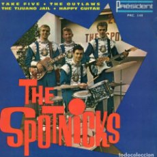 Discos de vinilo: THE SPOTNICKS, EP, THE OUTLAWS + 3, AÑO 19?? MADE IN FRANCE. Lote 110087279