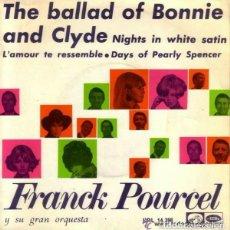 Discos de vinilo: FRANCK POURCEL Y SU GRAN ORQUESTA: THE BALLAD OF BONNIE AND CLYDE + 3 TEMAS - EP SPAIN 1968 . Lote 110114607