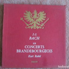 Discos de vinilo: J.S. BACH - SIX CONCERTS BRANDEBOURGEOIS - KURT REDEL ERATO CAJA 2 LP.. Lote 110115127