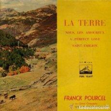 Discos de vinilo: FRANK POURCEL Y ORQUESTA, LA TERRE + 3 TEMAS, EP SPAIN 1961 . Lote 110115239