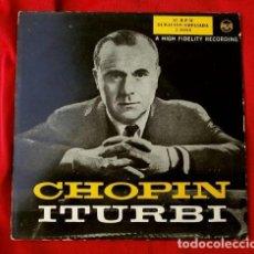 Discos de vinilo: JOSE ITURBI (EP. AÑOS 50) CHOPIN - ITURBI AL PIANO (DISCO EN BUEN ESTADO). Lote 110117335