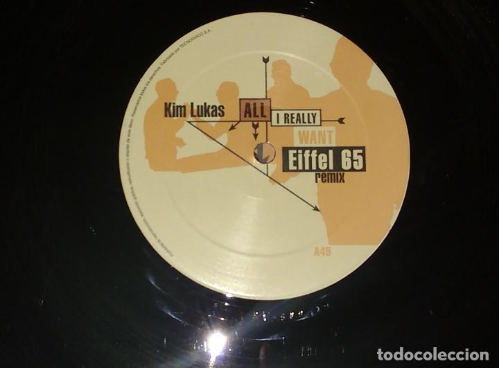 Discos de vinilo: KIM LUCAS - ALL I REALLY WANT EIFFEL 65 REMIX - Foto 3 - 110152859