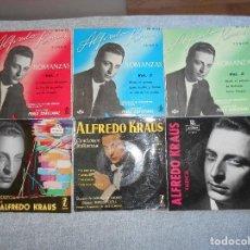 Discos de vinilo: LOTE 6 DISCOS ALFREDO KRAUS VALENCIACANCIONES ITALIANAS EXITOS ROMANZAS 1 , 2 ,3 AÑOS 50 60 B.E.. Lote 110158575