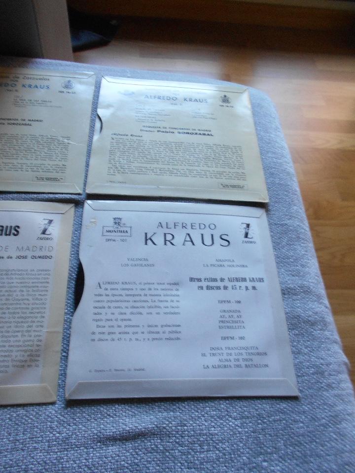 Discos de vinilo: LOTE 6 DISCOS ALFREDO KRAUS VALENCIACANCIONES ITALIANAS EXITOS ROMANZAS 1 , 2 ,3 AÑOS 50 60 B.E. - Foto 9 - 110158575