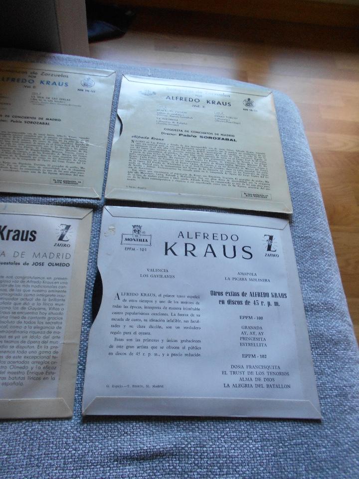 Discos de vinilo: LOTE 6 DISCOS ALFREDO KRAUS VALENCIACANCIONES ITALIANAS EXITOS ROMANZAS 1 , 2 ,3 AÑOS 50 60 B.E. - Foto 10 - 110158575