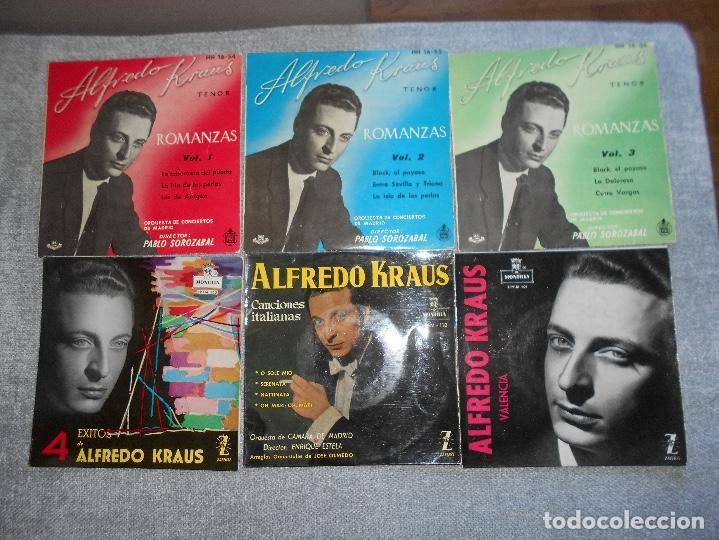 Discos de vinilo: LOTE 6 DISCOS ALFREDO KRAUS VALENCIACANCIONES ITALIANAS EXITOS ROMANZAS 1 , 2 ,3 AÑOS 50 60 B.E. - Foto 2 - 110158575