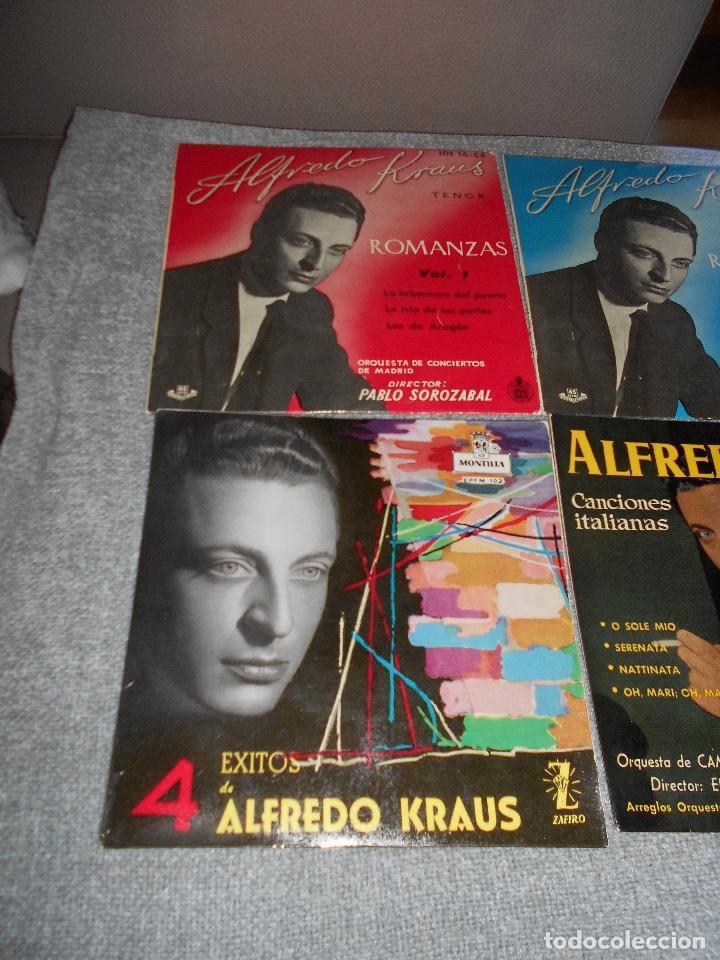Discos de vinilo: LOTE 6 DISCOS ALFREDO KRAUS VALENCIACANCIONES ITALIANAS EXITOS ROMANZAS 1 , 2 ,3 AÑOS 50 60 B.E. - Foto 3 - 110158575