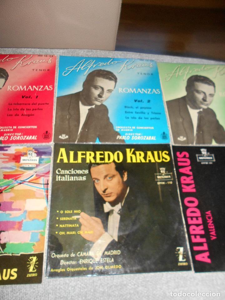 Discos de vinilo: LOTE 6 DISCOS ALFREDO KRAUS VALENCIACANCIONES ITALIANAS EXITOS ROMANZAS 1 , 2 ,3 AÑOS 50 60 B.E. - Foto 4 - 110158575