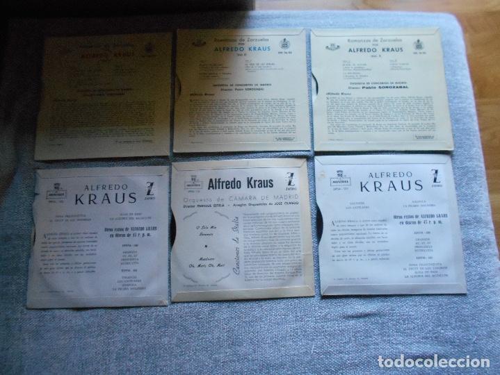Discos de vinilo: LOTE 6 DISCOS ALFREDO KRAUS VALENCIACANCIONES ITALIANAS EXITOS ROMANZAS 1 , 2 ,3 AÑOS 50 60 B.E. - Foto 6 - 110158575