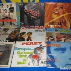 Discos de vinilo: VINILO LOTE DE 9 SINGLES EPS VINILOS PERET Y MAS..- DESCATALOGADOS. Lote 110159727