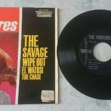 Discos de vinilo: THE VENTURES: THE SAVAGE + 3 (EMI ODEON LIBERTY RECORDS 1964). Lote 110159759