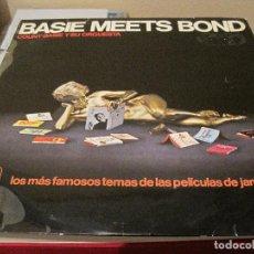 Discos de vinilo: LP-BASIE MEETS BOND COUNT BASIE ORQ. HISPAVOX 06142 SPAIN 1966 JAMES BOND JOHN BARRY COVERS. Lote 110168339